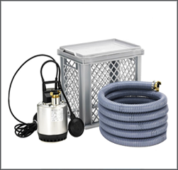 Submersible dewatering pump kit